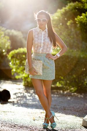 Zara shirt - Zara bag - Zara skirt - Zara pumps