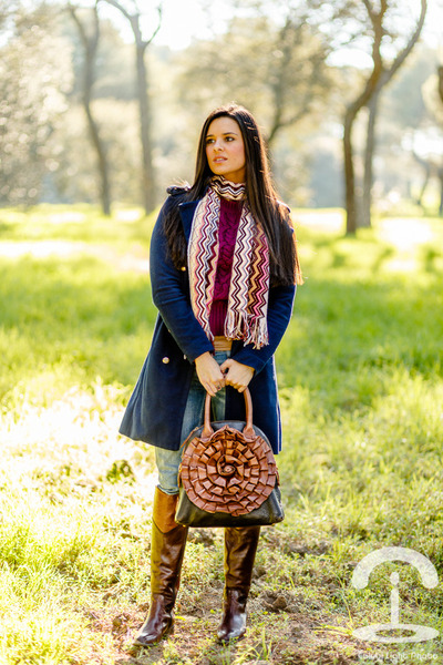 Clarks boots - Missoni scarf - Valentino bag
