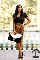 asos bag - Zara top - Zara skirt - H&M bracelet