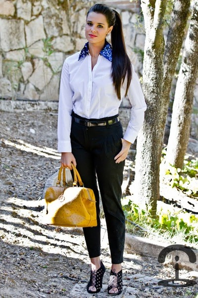 DIY shirt - Zara shoes - Mango pants