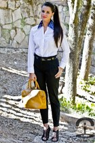 DIY shirt - Zara shoes - Mango pants