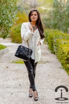 Choies coat - Carolina Herrera bag