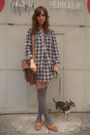 Gray-hm-dress-brown-vintage-accessories-brown-zara-shoes-gray-calcedonia-s