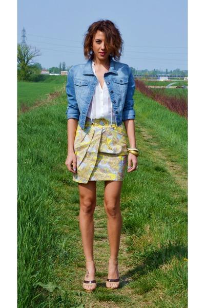 H&M skirt - Terranova jacket - H&M blouse