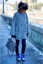 Stefanel jacket - H&M hat - nike sneakers