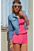 Terranova jacket - Zara shoes - Stradivarius shorts - Ray Ban sunglasses