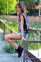 Mango shirt - Zara jumper - Primadonna sneakers