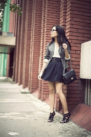 blazer - shirt - belt - skirt