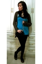 Wetseal shirt - shirt - Tension sweater - stockings - shoes - accessories