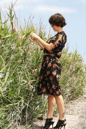 vintage dress - Ebay shoes - vintage belt