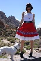 vintage skirt - Ramon Maiden t-shirt - YSL sunglasses