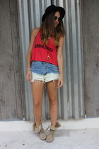 WCP shorts - diy studs Forever 21 boots - Forever 21 hat - Fake LA shirt