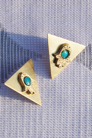 gold stud Crossroads Trading Co earrings