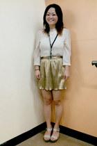 skirt - shirt - sandals