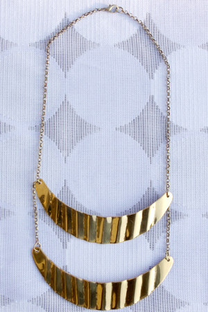 gold crossroads necklace