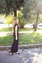 black long Bershka skirt - black Pimkie t-shirt