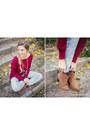 Bronze-pimkie-boots-light-blue-boyfriend-zara-jeans