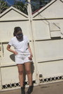 Black-ankle-laced-up-vintage-boots-white-cutoffs-diy-gap-shorts