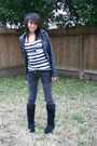 Black-forever21-jacket-black-forever21-top-silver-forever21-accessories-bl