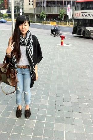 cheap mondays jeans - Zara bag - Topshop top
