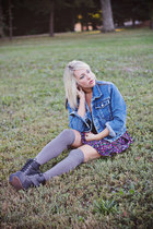 Rue 21 jacket - Make Me Chic boots - Forever 21 dress - Urban Outfitters hat