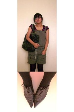 Pons Q love shoes shoes - romper shorts shorts - whoknows tights - Bag accessori