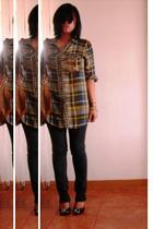 plaid shirt - Lee jeans - Syrup love shoes - leather bag accessories - vintage g