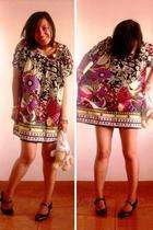 Color love dress - mary janes shoes - Lamb handbag accessories - vintage fork an