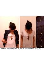 DIY shirt - true love jacket - Ako Mismo accessories - used as pendant bracelet