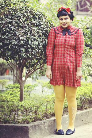 vintage dress - Falbala tights