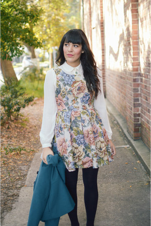 cream blouse Forever 21 top - brown loafers modcloth shoes