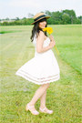 White-dress-pepaloves-dress-straw-hat-forever-21-hat