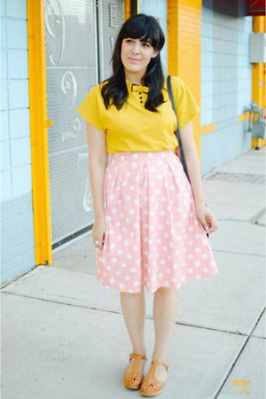 modcloth skirt - PepaLoves dress - PepaLoves bag - Swedish Hasbeens clogs