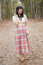 Buffalo Exchange skirt - Swedish Hasbeens clogs - modcloth top