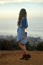 Brown-leather-dolce-vita-boots-blue-chambray-anthropologie-dress