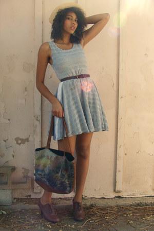 dress - vintage bag - JC-Penney heels