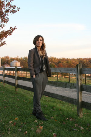 madewell shirt - vintage yves saint laurent blazer - Forever 21 pants - Jeffrey 
