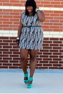 Black-wildlife-sonsi-dress-aquamarine-shoe-dazzle-shoes-blue-eloquii-blazer