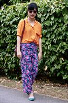orange silk Cute Granny Vintage shirt