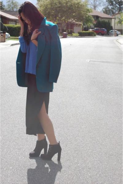 black high slit Gap dress - black Dolce Vita boots
