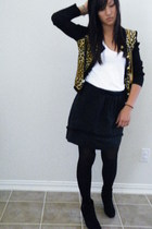 J&R sweater - Target top - Target skirt - Forever21 tights - Ross boots