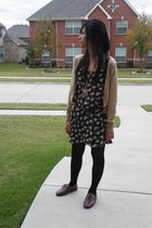 moms old dress - Forever 21 sweater - Forever 21 belt - Ebay shoes - necklace
