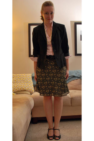 black Max Studio jacket - pink Express shirt - gold World Market necklace - blac