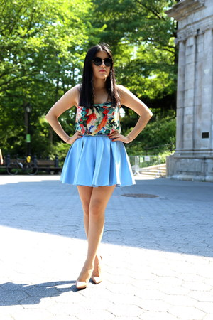 H&M top - Zara skirt - Christian Louboutin heels