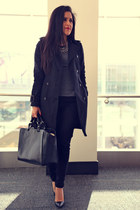 Zara coat - Zara bag - Zara top - Zara necklace - Zara pants - Zara pumps