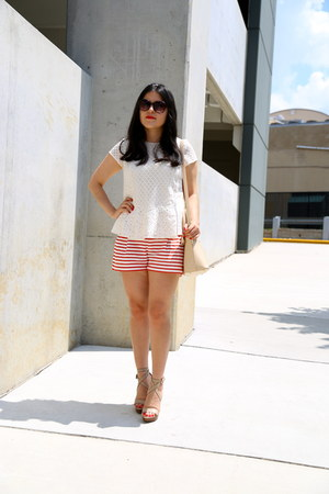 Zara bag - JCrew shorts - Zara top - Zara sandals