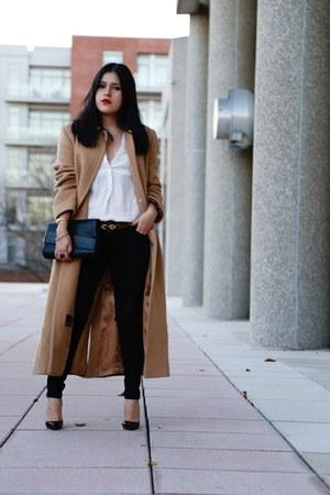 Zara bag - vintage coat - Zara top - Christian Louboutin heels - Zara pants