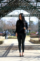 Zara heels - bcbg max azria bag - Zara pants - Zara blouse