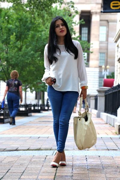 Zara jeans - bcbg max azria bag - Zara sandals - Forever 21 blouse