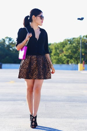 Zara jacket - kate spade bag - Zara heels - Zara skirt - Ralph Lauren blouse